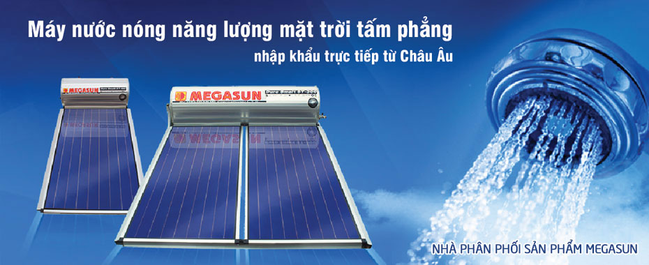Máy nước nóng năng lượng mặt trời dạng tấm thu nhiệt